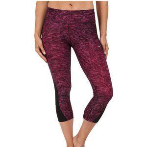 Nike Racer Pink & Black Capri Black Crop Leggings